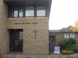 The exterior of the Wesley Methodist Church