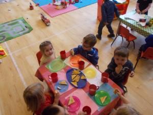 Children eating snack